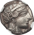 Ancients:Greek, Ancients: ATTICA. Athens. Ca. 454-404 BC. AR tetradrachm (17.06gm). NGC AU 5/5 - 2/5, graffito....