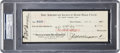 Baseball Collectibles:Others, 1927 Benny Bengough Signed New York Yankees Payroll Check. . ...