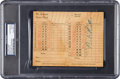 Baseball Collectibles:Bats, Circa 1940 Babe Ruth Signed St. Albans Golf Club Scorecard....