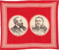 Political:Textile Display (pre-1896), Garfield & Arthur: Jugate Bandana....