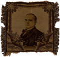 Political:Textile Display (1896-present), William McKinley: Unusual Tapestry or Table Cover....