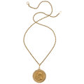 Estate Jewelry:Pendants and Lockets, Gold Coin, Gold Pendant-Necklace . ...