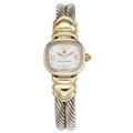 Estate Jewelry:Watches, David Yurman Lady's Gold, Sterling Silver, Mother-of-Pearl Watch. ...
