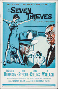 "Seven Thieves (20th Century Fox, 1959). One Sheets (5) Identical (27"" X 41""). Crime. ... (Total: 5 Items)"