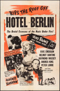 "Movie Posters:War, Hotel Berlin (Warner Brothers, 1945). One Sheet (27.25"" X 41"").War.. ..."