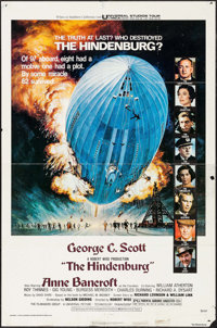 "The Hindenburg & Other Lot (Universal, 1975). One Sheets (2) (27"" X 41"") Blue Style, George Akimoto Artwor..."