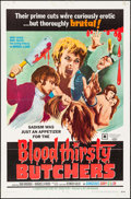 "Movie Posters:Horror, Bloodthirsty Butchers (William Mishkin Motion Pictures Inc., 1969). One Sheet (27"" X 41""). Horror.. ..."
