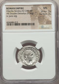 Ancients:Ancient Lots  , Ancients: ANCIENT LOTS. Roman Imperial. Otacilia Severa (AD 244-249). Lot of two (2) AR antoniniani. NGC MS.... (Total: 2 coins)
