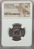 Ancients:Ancient Lots , Ancients: ANCIENT LOTS. Roman Imperial. Diocletian (AD 284-305).Lot of two (2) BI antoniniani. NGC AU-MS.... (Total: 2 coins)