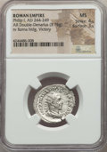 Ancients:Ancient Lots , Ancients: ANCIENT LOTS. Roman Imperial. Philip I (AD 244-249). Lotof two (2) AR antoniniani. NGC Choice AU-MS.... (Total: 2 coins)