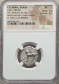 Ancients:Greek, Ancients: CALABRIA. Tarentum. Ca. 272-240 BC. AR stater or didrachm(6.16 gm). NGC XF 4/5 - 4/5....