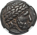 Ancients:Celtic, Ancients: DANUBE REGION. Uncertain tribe. Ca. late 3rd-2ndcenturies BC. AR tetradrachm (13.16 gm). NGC XF 4/5 - 3/5....