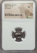 Ancients:Ancient Lots , Ancients: ANCIENT LOTS. Greek. Ca. 5th-2nd centuries BC. Lot of two(2) AR fractions. NGC VF-Choice VF.... (Total: 2 coins)