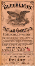 Political:Small Paper (pre-1896), [Rutherford B. Hayes]:1876 Republican National Convention Ticket....