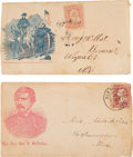 Political:Small Paper (pre-1896), George B. McClellan: Two Rare Postally-Used Covers. ... (Total: 2Items)
