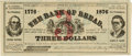 "Political:Small Paper (pre-1896), Peter Cooper & Samuel Cary: A Very Rare Jugate ""Bank Note""Picturing the 1876 Greenback Party Candidates. ..."
