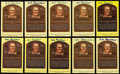 Autographs:Post Cards, Happy Chandler Signed Hall of Fame Plaque Postcard Collection (10)....