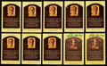 Autographs:Post Cards, Luke Appling Signed Hall of Fame Plaque Postcard Collection (10)....