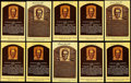 Autographs:Post Cards, Earl Averill Signed Hall of Fame Plaque Postcard Collection (10)....