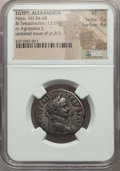 Ancients:Roman Provincial , Ancients: EGYPT. Alexandria. Nero (AD 54-68). BI tetradrachm (13.69gm). NGC VF 5/5 - 4/5....