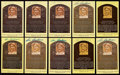 Autographs:Post Cards, Lou Boudreau Signed Hall of Fame Plaque Postcard Collection(10)....