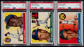 Baseball Cards:Lots, 1955 Topps Baseball HoFers PSA Graded Trio (3) - Aaron, Kaline& Williams....