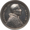 """Vatican City, Vatican City: Benedict XV silver """"Papal Coat of Arms"""" Medal byBianchi Anno I (1914) MS63 NGC,..."""