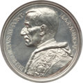 """Vatican City, Vatican City: Benedict XV silver """"Ministry to War Wounded"""" Medal byG. Romagnoli Anno V (1919) MS62 NGC,..."""