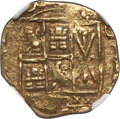 Colombia, Colombia: Charles II gold Cob 2 Escudos ND (1694-1713) AU Details(Edge Filing) NGC,...