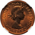 Australia, Australia: Two-Piece Elizabeth II NGC-Certified 1/2 Penny and Penny Proof Set 1963,... (Total: 2 coins)
