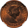 Australia, Australia: Two-Piece Certified Elizabeth II 1/2 Penny and Penny Proof Set 1963-(p),... (Total: 2 coins)