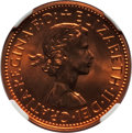 Australia, Australia: Two-Piece Elizabeth II 1/2 Penny and Penny Certified Proof Set 1963-(p), ... (Total: 2 coins)