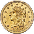 Classic Quarter Eagles, 1838 $2 1/2 MS63+ PCGS Secure. Breen-6146, Variety 19, R.2....
