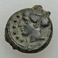 Ancients:Ancient Lots  , Ancients: ANCIENT LOTS. Sicily. Himera. Ca. late 5th century BC.Lot of three (3) AE hemilitra. About XF.... (Total: 3 coins)