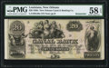 Obsoletes By State:Louisiana, New Orleans, LA- New Orleans Canal & Banking Co. $20 18__ G36a Remainder. ...