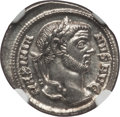 Ancients:Roman Imperial, Ancients: Maximian, first reign (AD 286-305). AR argenteus (2.91 gm). NGC MS 3/5 - 5/5....