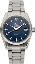 Estate Jewelry:Watches, Omega Gentleman's Stainless Steel Seamaster Aqua Terra Co-Axial Chronometer Watch. ...