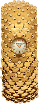 Jaeger LeCoultre Lady's Gold Watch, French