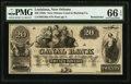 Obsoletes By State:Louisiana, New Orleans, LA- New Orleans Canal & Banking Compy. $20 18__ Remainder. ...