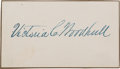 Political:Small Paper (pre-1896), Victoria C. Woodhull: Signature of First Woman to Run For President....