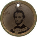 Political:Ferrotypes / Photo Badges (pre-1896), Abraham Lincoln and Winfield Scott: Circa 1861 Back-to-Back Ferrotype....