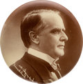 """Political:Pinback Buttons (1896-present), William McKinley: Unusual 3 1/2"""" Real Photo Badge...."""