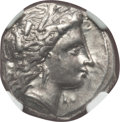 Ancients:Greek, Ancients: LUCANIA. Metapontum. Ca. 330-290 BC. AR stater (7.87gm). NGC AU 5/5 - 5/5....