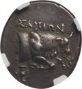 Ancients:Greek, Ancients: IONIAN ISLANDS. Samos. Ca. 270-240 BC. AR drachm (4.64gm). NGC XF 5/5 - 4/5....