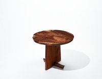 Mira Nakashima (American, b. 1942) Custom Minguren I Round Side Table, 2005 Walnut 28-1/2 inches