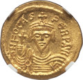 Ancients:Byzantine, Ancients: Phocas (AD 602-610). AV solidus (4.44 gm). NGC MS 5/5 -4/5....