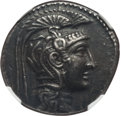 Ancients:Greek, Ancients: ATTICA. Athens. Ca. 165-42 BC. AR tetradrachm (16.69 gm).NGC Choice XF 5/5 - 4/5....