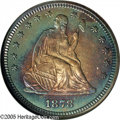 Proof Seated Quarters: , 1878 25C PR66 NGC. Flashy mirrors sit underneath the rings ofchampagne, blue, violet and gold on the obverse of this Premi...