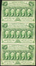 Fractional Currency, Fr. 1312 50¢ First Issue Vertical Strip of Three Very Fine.. ...