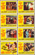 "Movie Posters:Romance, Love is Better Than Ever (MGM, 1952). Lobby Card Set of 8 (11"" X 14""). Romance.. ... (Total: 8 Items)"